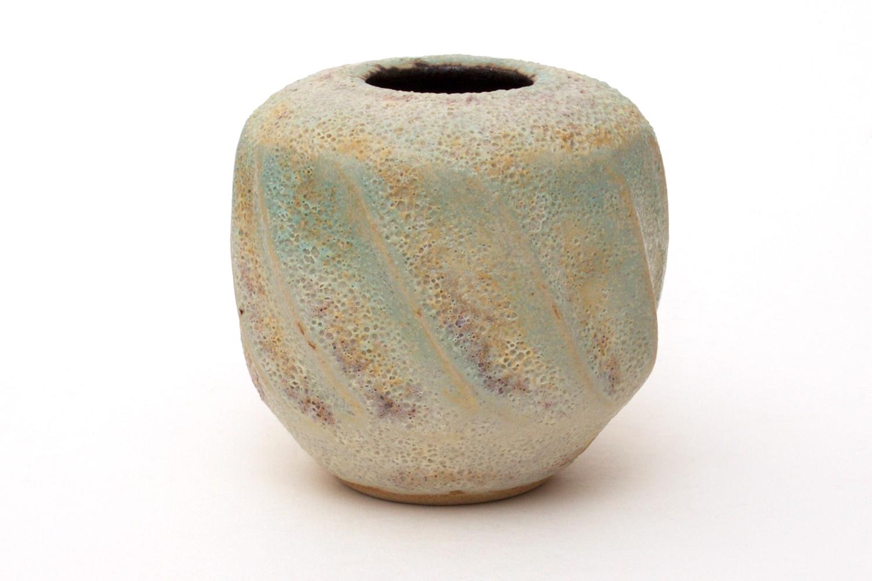Chris Carter Ceramic Fluted Vase 052