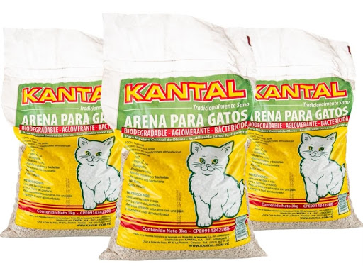 mascotas kantal arena para gatos 3kg