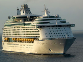 Photo: Our sister ship..Adventure of the Seas arriving in St. Maaretn.  Isn't she pretty??