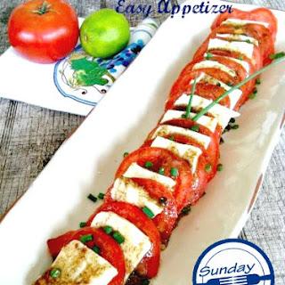 Tomato and Mozzarella Easy Appetizer.