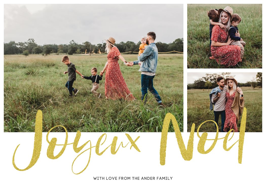 Joyeux Noel - Christmas Card Template