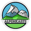 ALPS mountain map icon