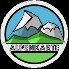 ALPS mountain map icon