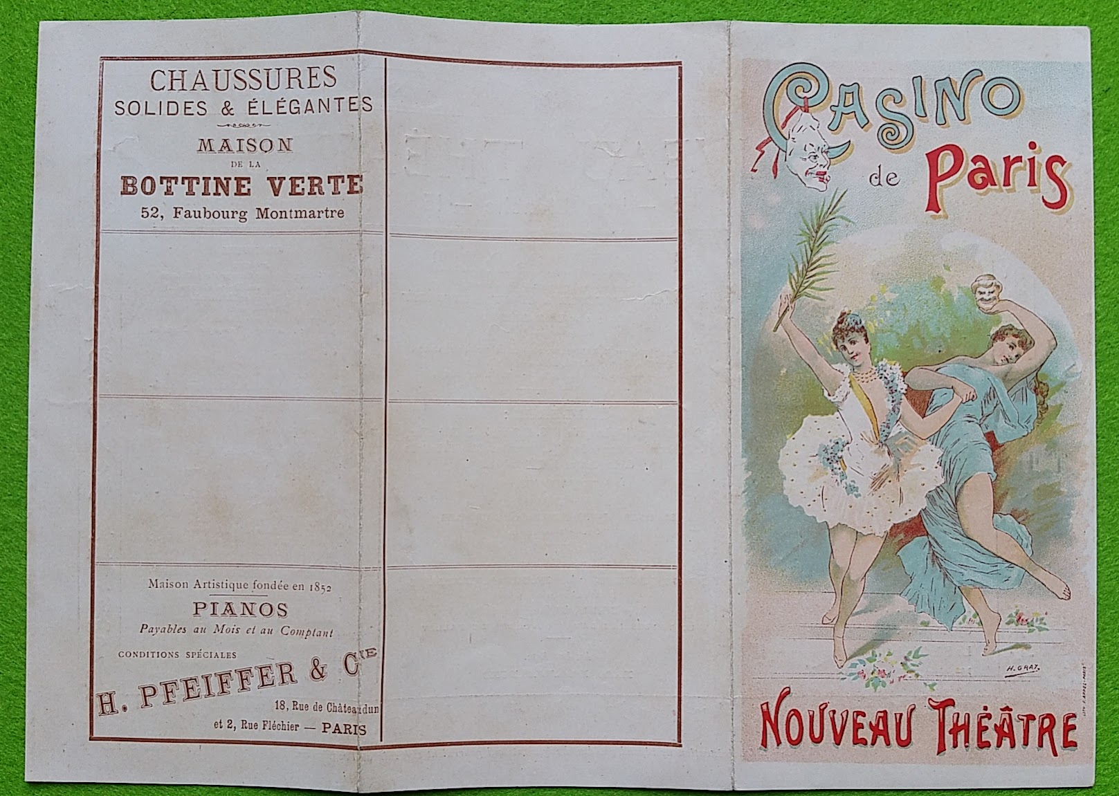 Revue-Programm aus Paris, 1895, Casino de Paris