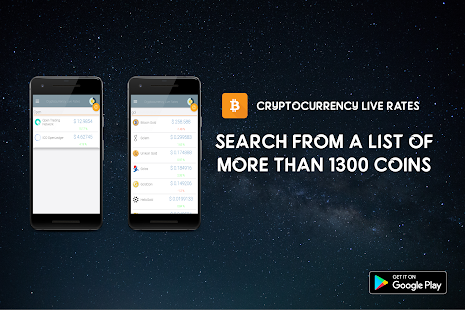 Cryptocurrency Live Rates - 1200+ Cryptocurrencies - náhled