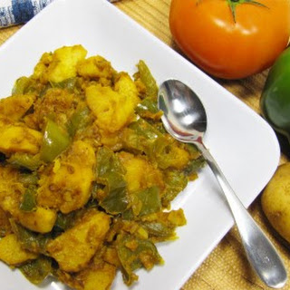 Potato Green Pepper Stir Fry Medley
