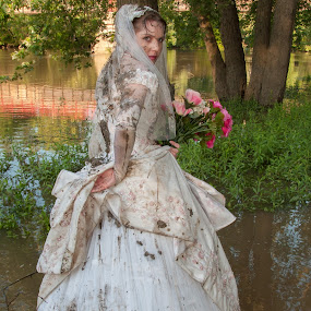 by Carter Keith - Wedding Bride ( wet and messy brides, rock the frock, wedding dresses, brides, muddy bride, trash the dress )