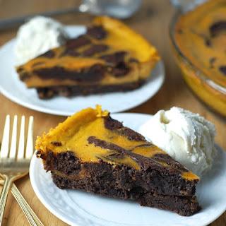 Gluten-Free Pumpkin Brownie Pie