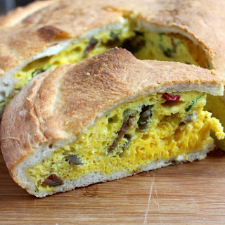 Traditional Italian Easter Pie with Eggs (Pizza Rustica)