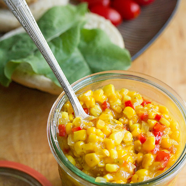 Sweet and Spicy Refrigerator Corn Relish
