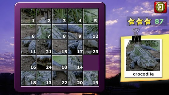 Kids Animal Slide Puzzle 15- screenshot thumbnail