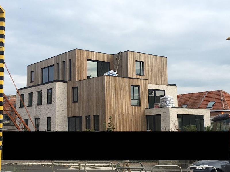Houten gevelbekleding - Project van 8 appartementen