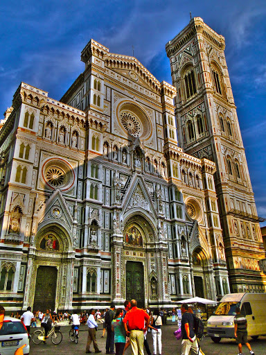 duomo-florence-photoshop.jpg - An artfully photoshopped image of the front of Florence's Duomo, or Il Duomo di Firenze.