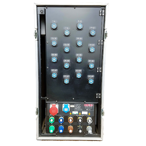 48Way LSC Dimmer Rack rear
