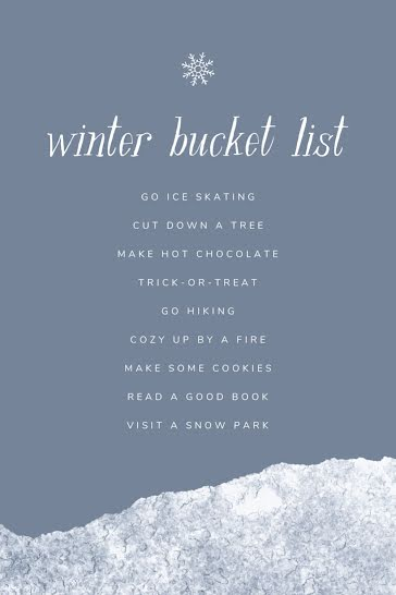 Winter Bucket List - Pinterest Pin Template
