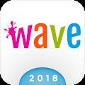 Wave Keyboard Background - Animations, Emojis, GIF download