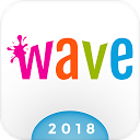 Wave Keyboard Background - Animations, Emojis, GIF
