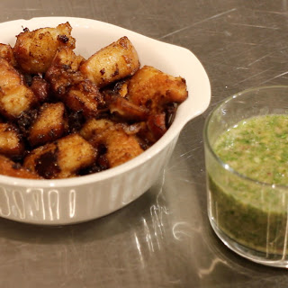 Chicharrónes with Chimichurri