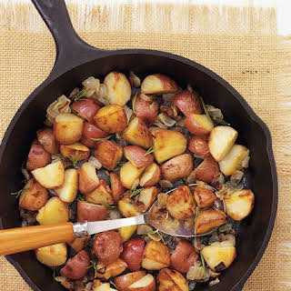 Roasted Red Potatoes with Rosemary and Onion.