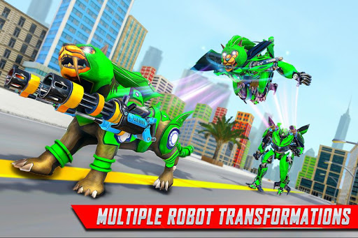 Lion Robot Car Transforming Games: Robot Shooting 1.4 screenshots 4