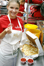 Photo: Sandra Nakova Serving our Famous Cheesy Breadsticks with our cold spicy pizza sauce for dipping.