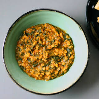 Dal-Palak (Lentils and Spinach).