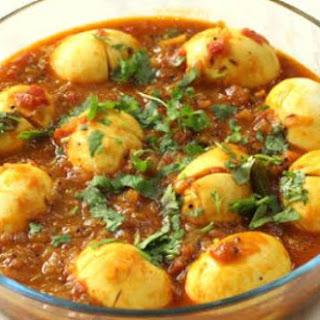Andhra Egg Curry (Kodi Guddu Pulusu)