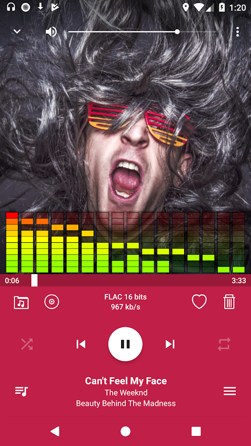 WinVibe Music Player (MP3 Audio Player)- screenshot