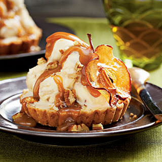 Caramel Apple Ice-cream Tarts
