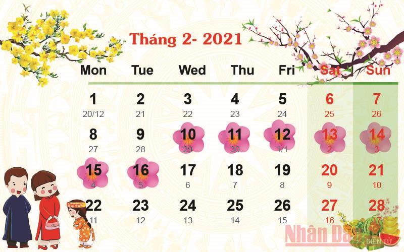 Tết 2021: Ngày nào Dương lịch, Lịch nghỉ tết 2021, Lịch âm?