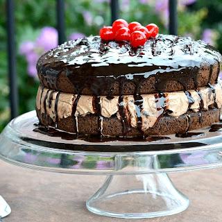 Chocolate Lover's Gooey Ice Cream Cake.