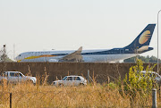 The Gupta wedding party aircraft that landed at Waterkloof Air Force Base. The former movement control officer for the base told judge Raymond Zondo she believed the landing had been sanctioned by then president Jacob Zumba. File photo.