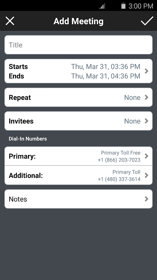 MobileMeet- screenshot