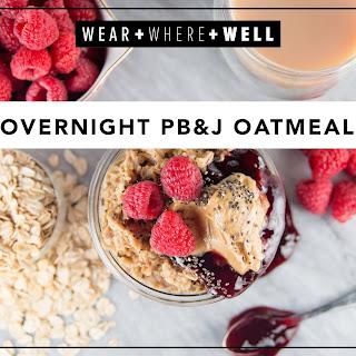 Overnight PB&J Oatmeal Recipe