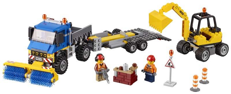 Contenido de Lego® 60152 Barredora y Excavadora