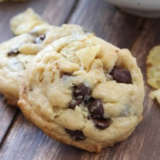 Potato Chip Cookies with Chocolate and Sea Salt