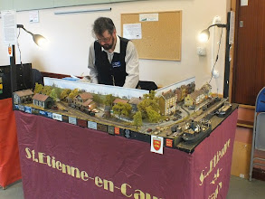 Photo: 024 Another French narrow gauge layout that has proved deservedly very popular on the exhibition circuit is Charlie Insley's HOe St Etienne en Caux .