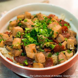Clay Pot Pork And Rice.