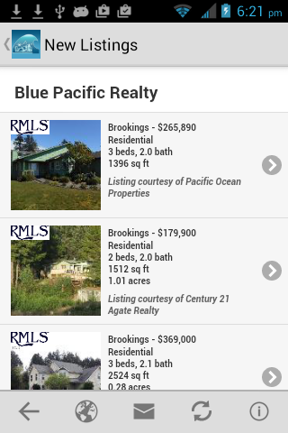 Blue Pacific Realty- screenshot