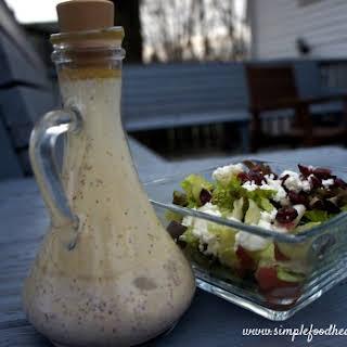 Vinaigrette Salad Dressing with Greek Yogurt.