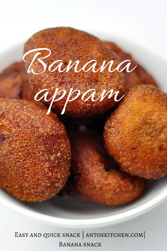 Sweet Banana Maida Appam Paniyaram Anto S Kitchen