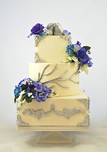 Photo: Blue and Purple Wedding Cake by Cake Girl on the Run (8/28/2012) View cake details here: http://cakesdecor.com/cakes/26791