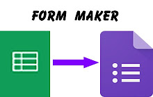 Form Maker - Google Sheets add-on