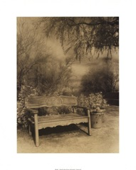 WR0306~Wooden-Bench-in-Garden-Setting-Posters