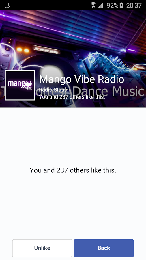 Mango Vibe Radio- screenshot
