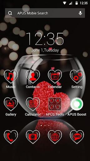 Transparent Heart APUS theme