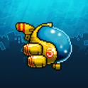 Aquamarine submarine icon