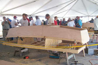 """Photo: """"Build a Boat in a Day"""" Challenge - Part of NCMM's Annual Wooden Boat Show"""