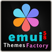 Theme Dark Bloom Carbon for Huawei EMUI 5/5.1/8