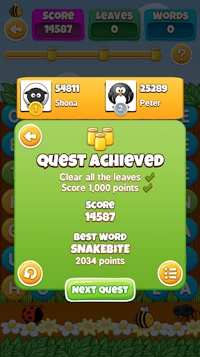WordBuzz : The Honey Quest screenshot